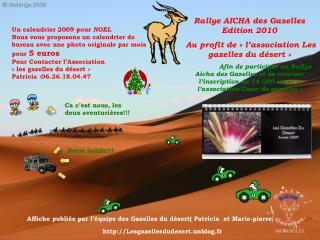 Rallye AICHA des Gazelles Edition 2010 Au profit de «l'associationLes gazelles du désert»