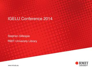 IGELU  Conference 2014