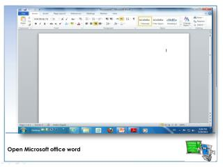 Open Microsoft office word