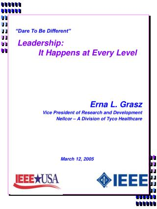Leadership:   It Happens at Every Level