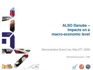 ALSO Danube �  Impacts on a  macro-economic level