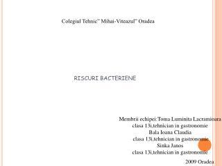 """Colegiul Tehnic"""" Mihai-Viteazul"""" Oradea"""