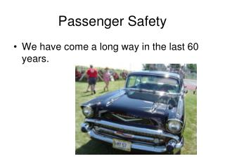 Passenger Safety