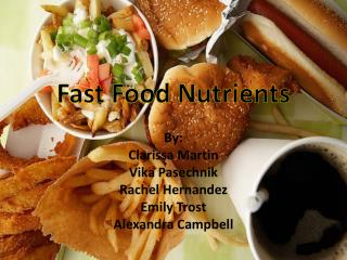 Fast Food Nutrients