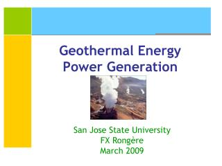 Geothermal Energy Power Generation