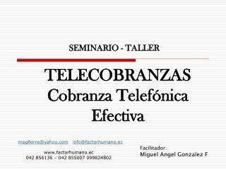TELECOBRANZAS  Cobranza Telef nica Efectiva