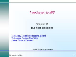 Introduction to MIS