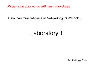 Data Communications and Networking COMP 2330