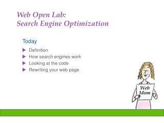 Web Open Lab:  Search Engine Optimization