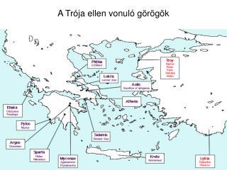 A Trója ellen vonuló görögök