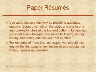 Paper R é sum é s