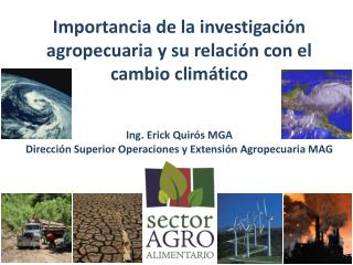 Importancia de la investigación agropecuaria y su relación con el cambio climático