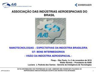 ASSOCIAÇÃO DAS INDÚSTRIAS AEROESPACIAIS DO BRASIL