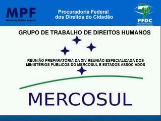 GRUPO DE TRABALHO DE DIREITOS HUMANOS  REUNIÃO PREPARATÓRIA DA XIV REUNIÃO ESPECIALIZADA DOS