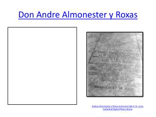 Don Andre Almonester y Roxas