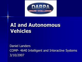 AI and Autonomous Vehicles