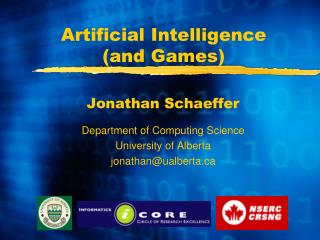 Artificial Intelligence (and Games)