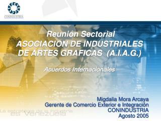 Reunión Sectorial ASOCIACION DE INDUSTRIALES DE ARTES GRAFICAS  (A.I.A.G.)