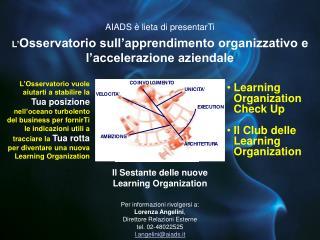 Il Sestante delle nuove Learning Organization