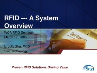 RFID --- A System Overview