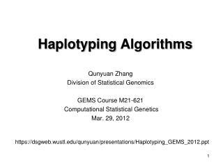 Haplotyping  Algorithms