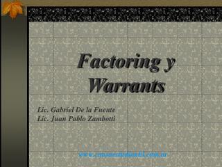 Factoring y Warrants