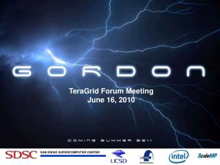 TeraGrid Coordination Meeting June 10, 2010