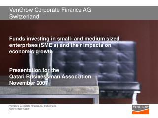 VenGrow Corporate Finance AG Switzerland
