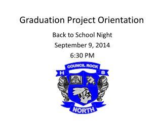 Graduation Project Orientation