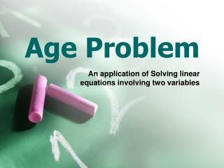 Age Problem