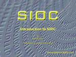Introduction to SIOC  By Manuel V lez  Translation by Manuel Hdez-Pe a