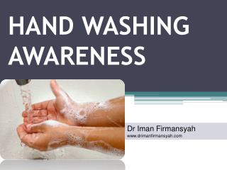 HAND WASHING  AWARENESS