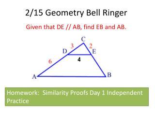 2/15 Geometry Bell Ringer