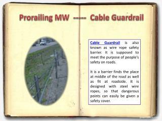 Cable Guardrail - ProrailingMW