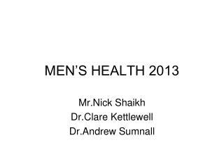 MEN�S HEALTH 2013