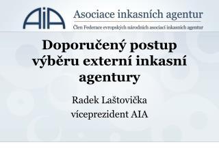 Doporučený postup výběru externí inkasní agentury