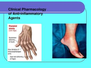 Clinical Pharmacology of A nti-inflammatory Agents