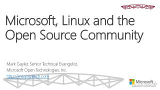 Microsoft, Linux and the Open Source Community
