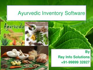 Ayurvedic Inventory Software