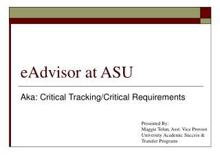 eAdvisor at ASU