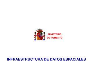 INFRAESTRUCTURA DE DATOS ESPACIALES