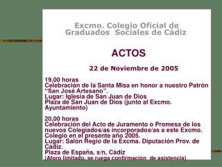 Excmo. Colegio Oficial de