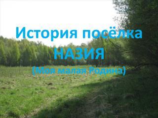 История посёлка НАЗИЯ (Моя малая Родина)