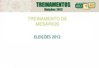 TREINAMENTO DE  MESÁRIOS