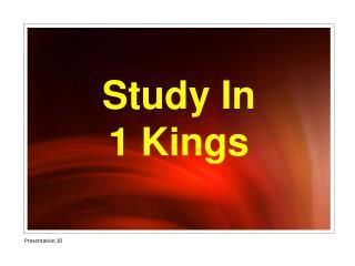 Study In 1 Kings