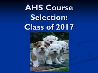 AHS Course Selection:  Class of 2017