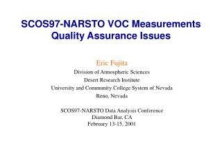 SCOS97-NARSTO VOC Measurements Quality Assurance Issues