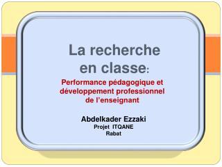 Performance p dagogique et d veloppement professionnel de l enseignant