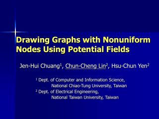 Drawing Graphs with Nonuniform Nodes Using Potential Fields