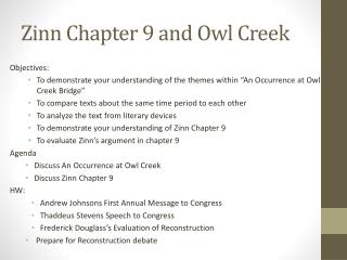 Zinn  Chapter 9 and Owl Creek